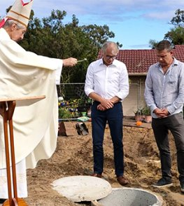 Greenwood Parish blesses new church centre ground . . .